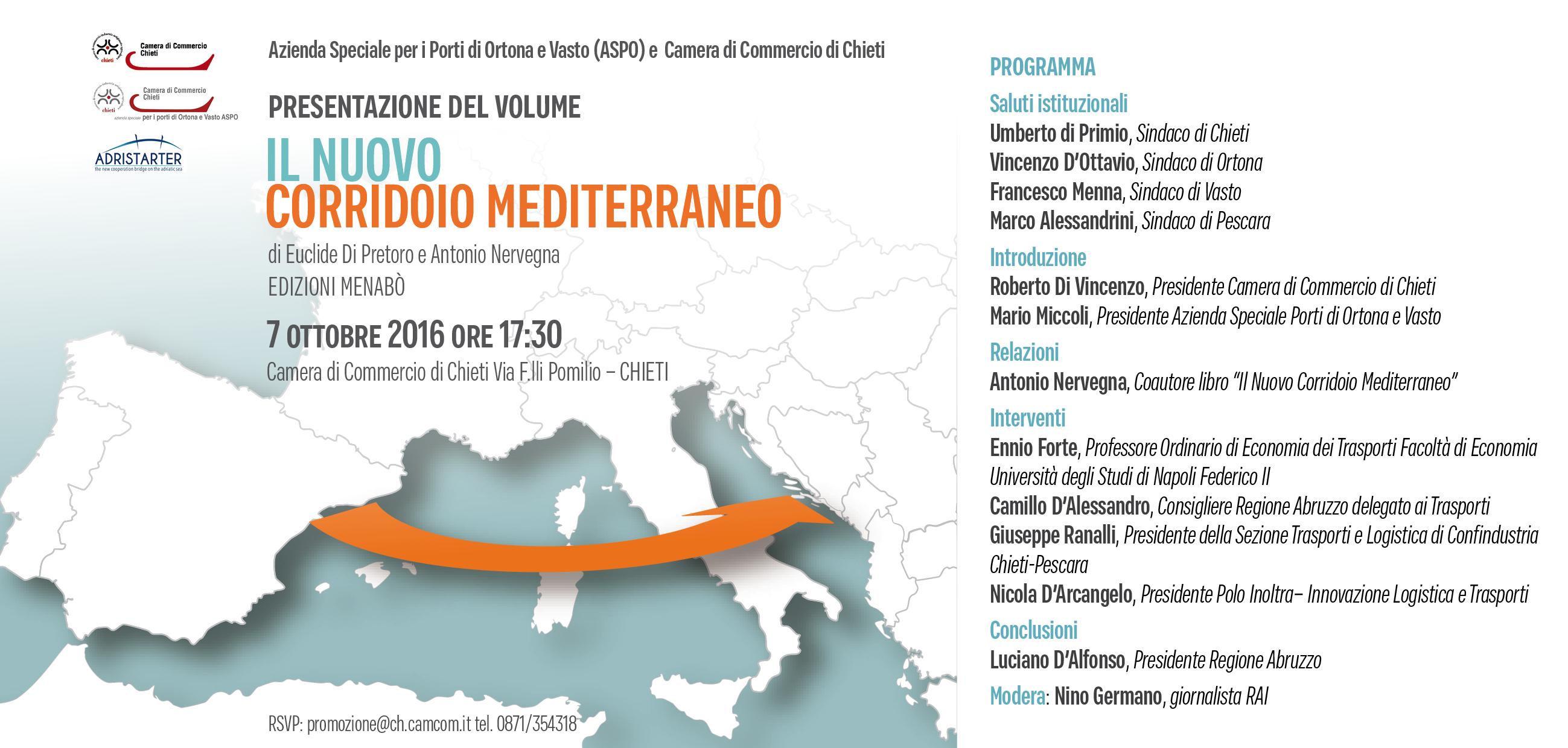 """Presentata la proposta per """"Il nuovo corridoio mediterraneo"""""""