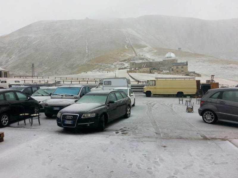 Abruzzo, 10 cm. di neve a Campo Imperatore