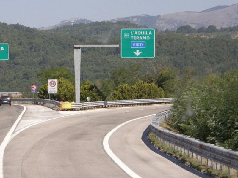 Autostrada A24: chiusure notturne Teramo Ovest