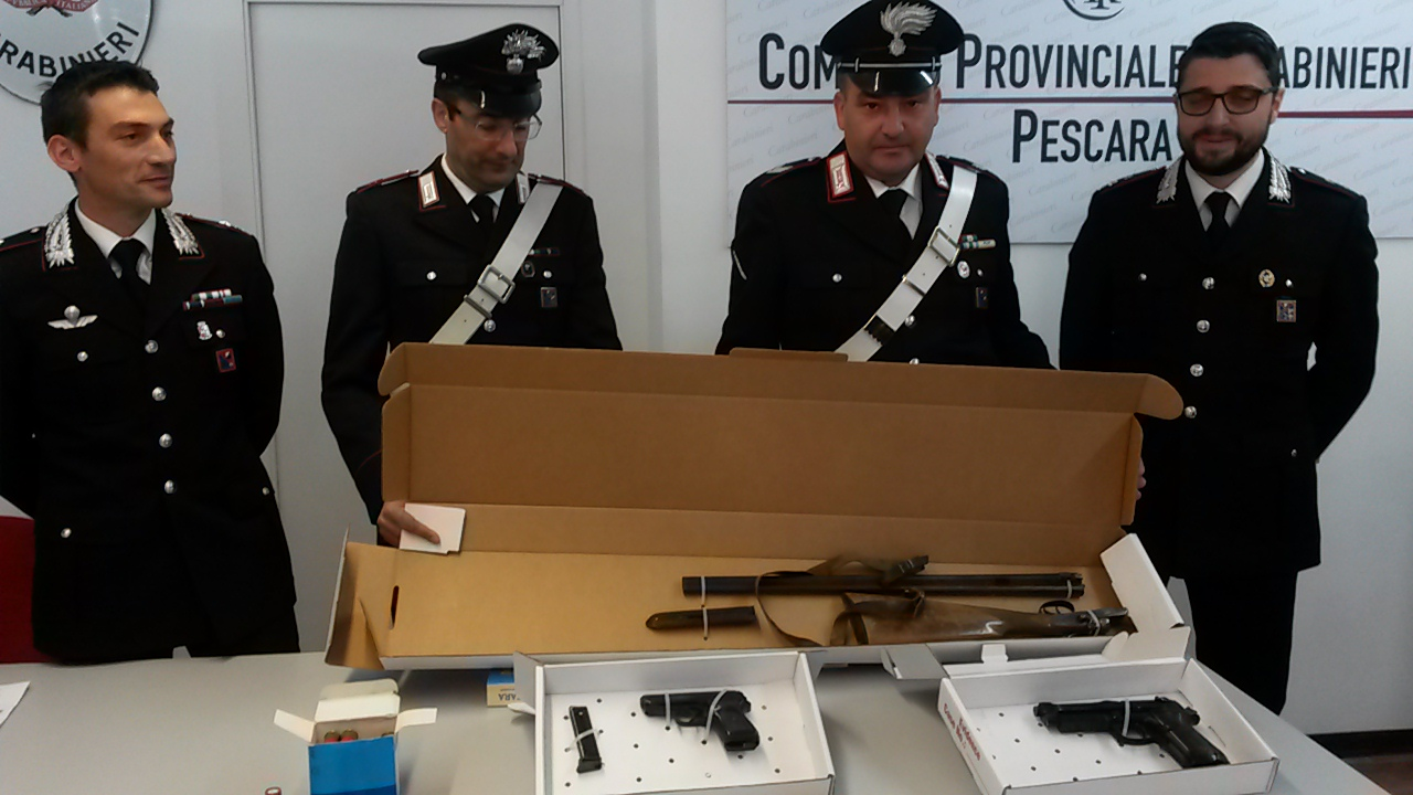 Arsenale Recuperato dai carabinieri di Pescara, al Ferro di Cavallo