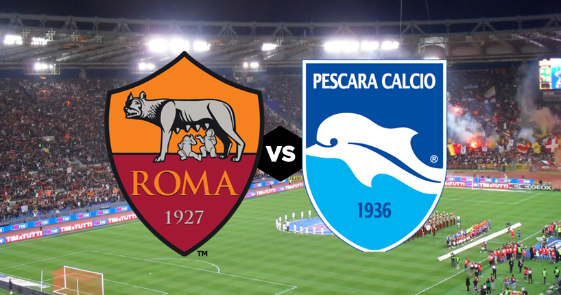 Roma Pescara streaming quando e come