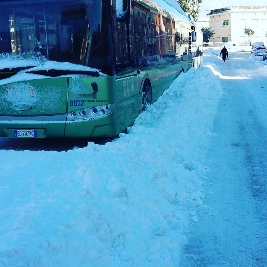 Maltempo neve, la situazione del trasporto pubblico