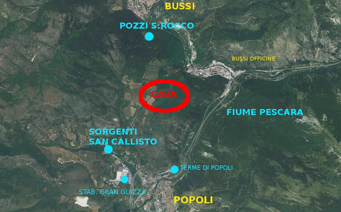 Popoli, H2O denuncia una nuova cava da 400.000 mc