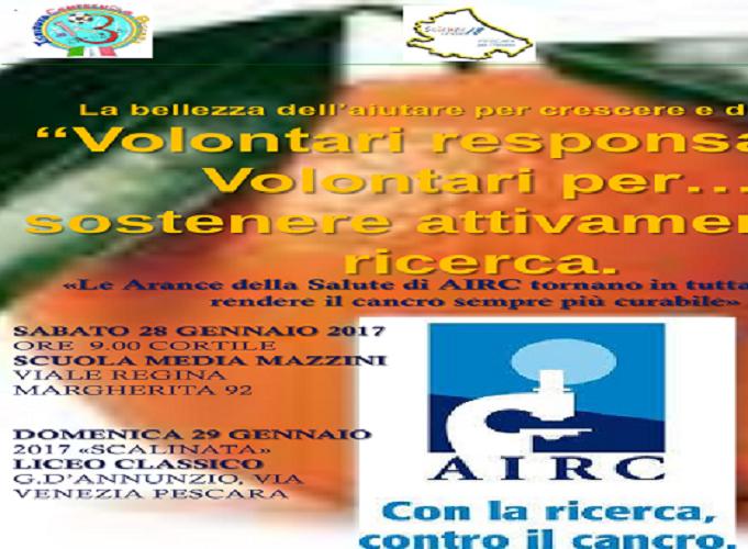 Pescara, le arance della salute di AIRC anche a scuola