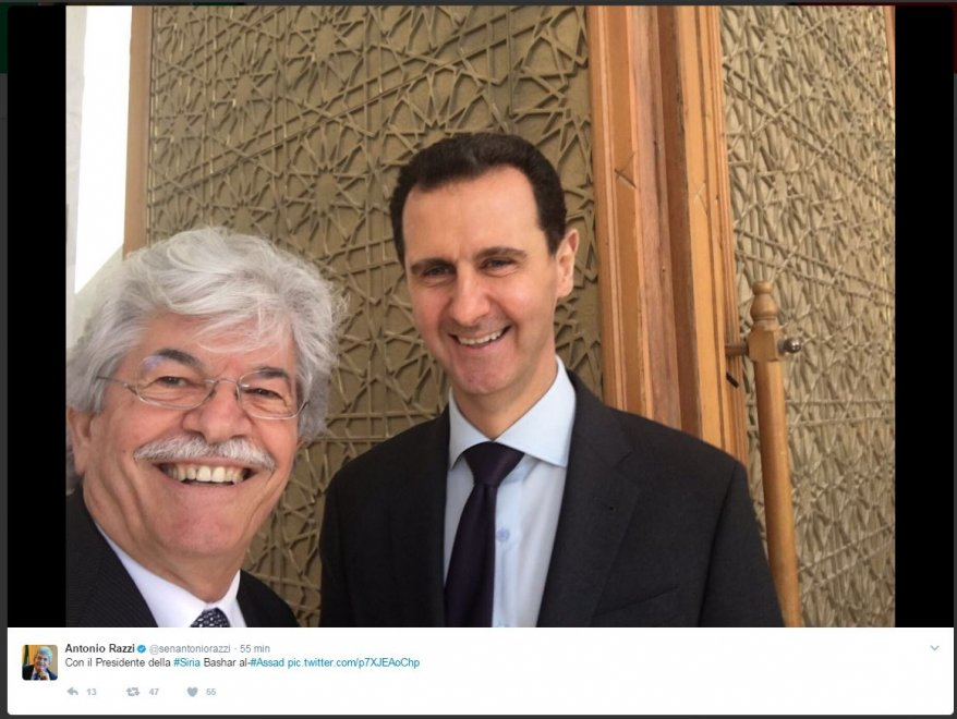 Antonio Razzi e il selfie con Bashar al Assad