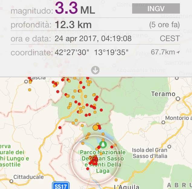 #Terremoto: sequenza sismica nell'aquilano. Diverse scosse tra Pizzoli, Barete e Campotosto