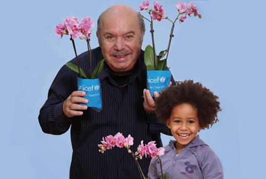 Torna in piazza l'orchidea Unicef per i bambini