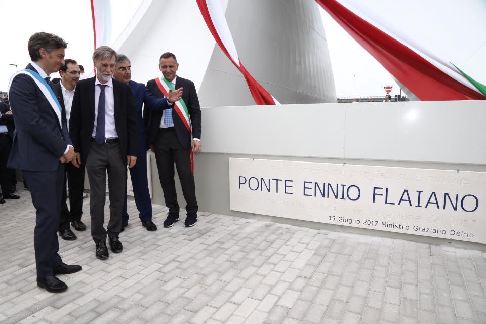 Ponte Flaiano, il giorno dell'inaugurazione