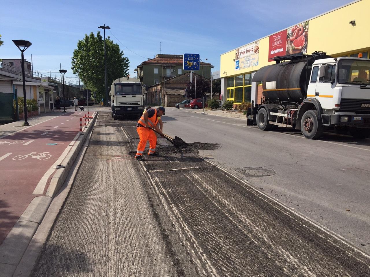 Pescara, prosegue la manutenzione delle strade