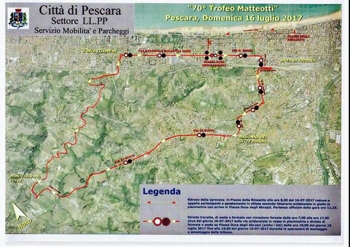 Pescara: oggi il Matteotti, le strade chiuse e i divieti
