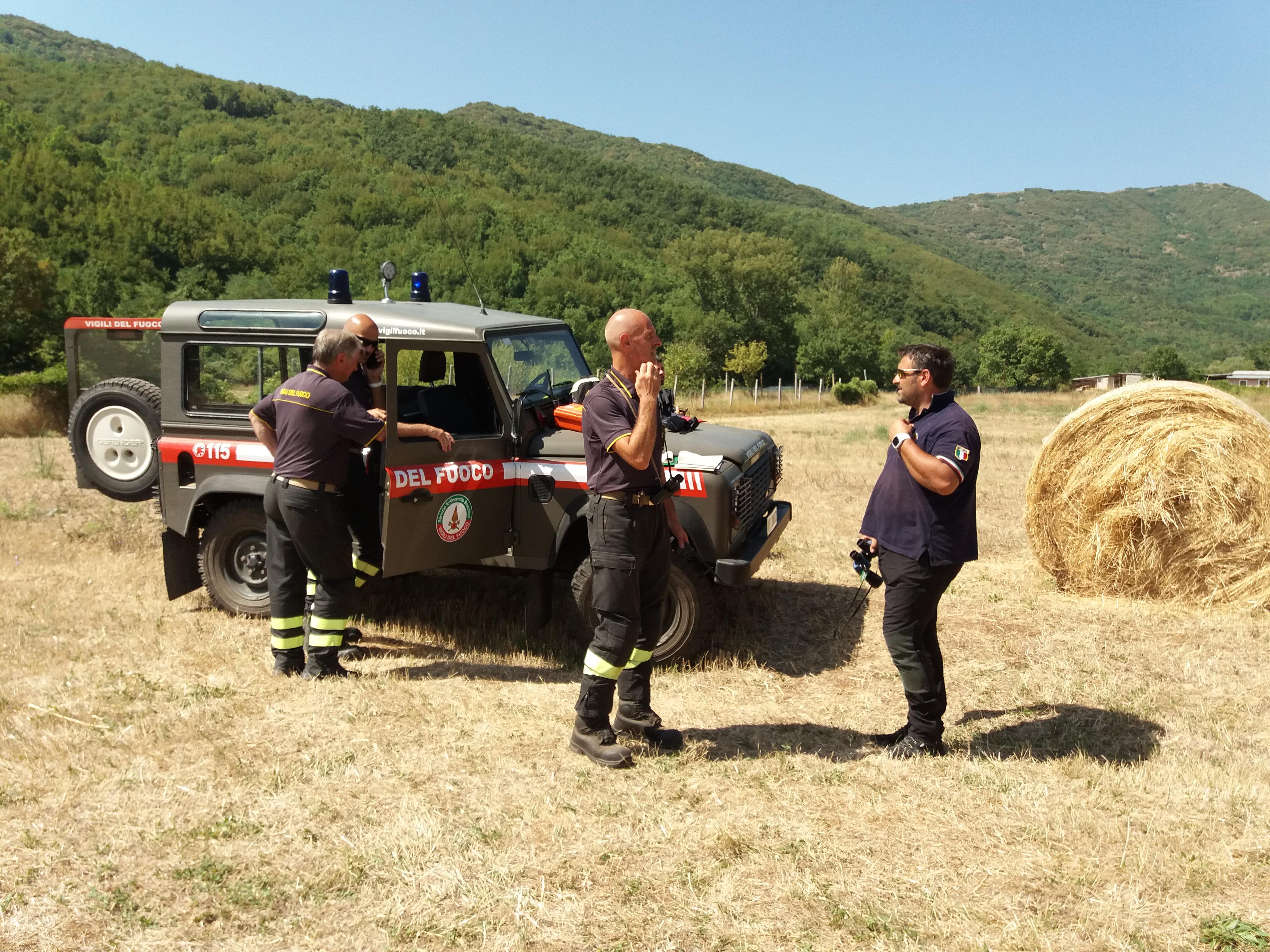 Incendi Abruzzo: rogo a L'Aquila ea Fonte Vetica di Campo Imperatore