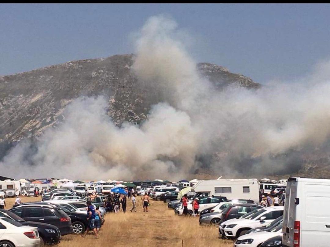 Incendio Campo Imperatore: le fiamme puntano Rigopiano VIDEO