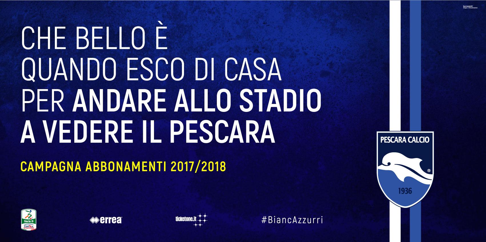 Pescara calcio, info abbonamenti e match col Foggia