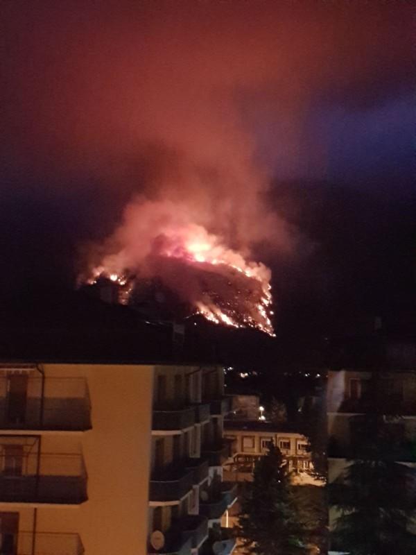 Incendio Morrone: comune Sulmona chiede intervento esercito
