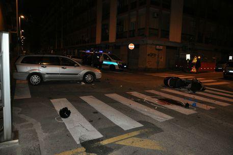Moto contro auto muore un 29 enne a Giulianova