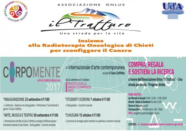 """""""Corpomente"""" a Chieti: arte e medicina insieme per la radioterapia"""