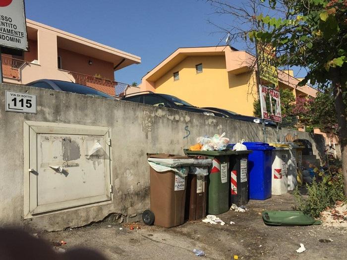 Pescara: cittadini dei Colli chiedono nuovi bidoni spazzatura
