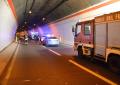A25: auto a fuoco in galleria, 9 feriti in maxitamponamento