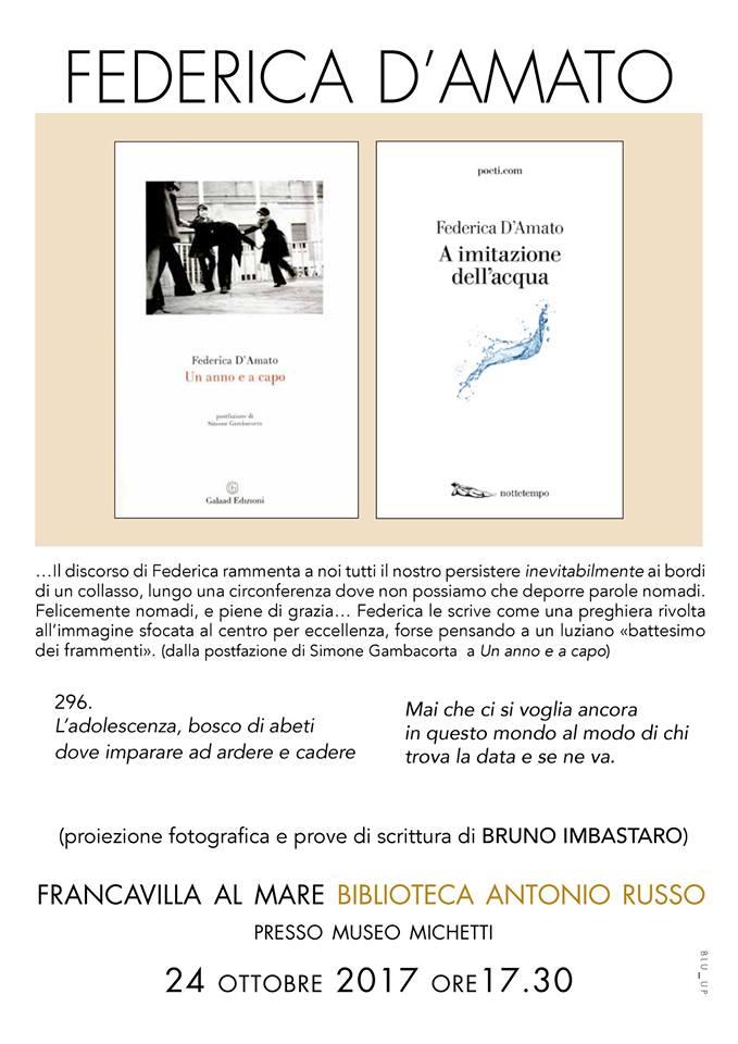 Francavilla: doppia presentazione per Federica D'Amato