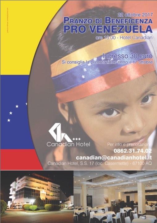 L'Aquila: pranzo di beneficenza per il Venezuela