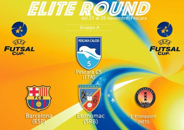 Eufa Futsal Cup, il programma del girone a Pescara