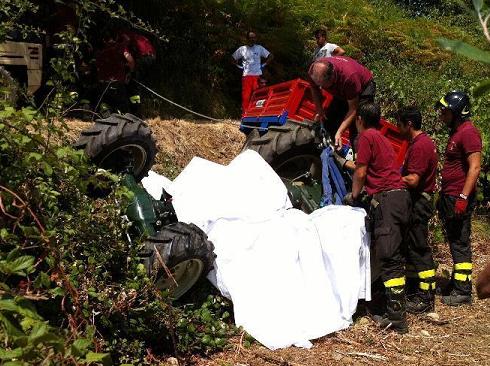 Rocca S. Giovanni, agricoltore muore schiacciato dal trattore