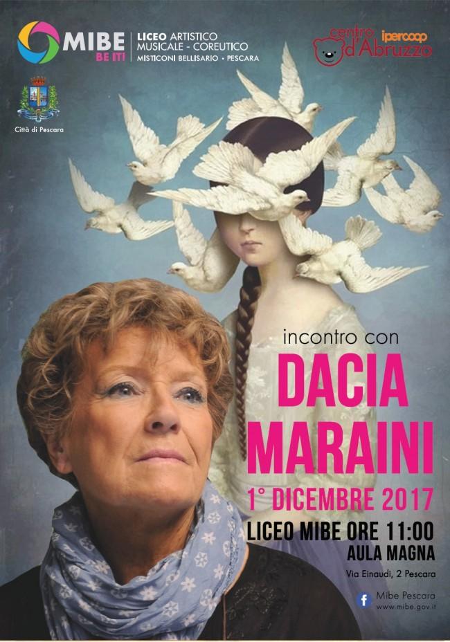 Pescara: la Maraini incontra gli studenti del Mibe