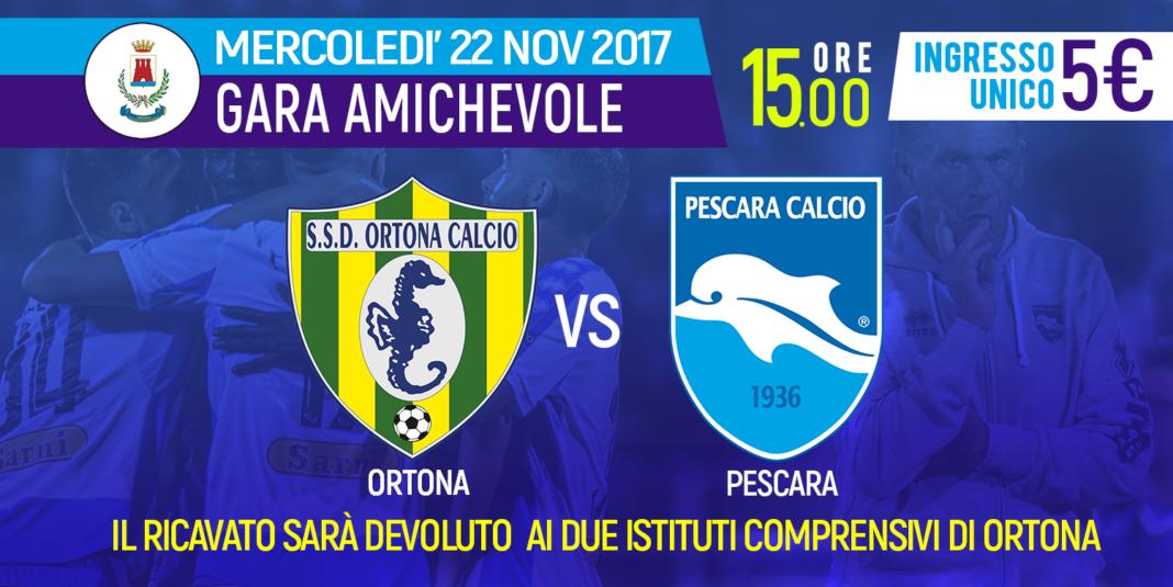 Pescara calcio, mercoledì test a Ortona