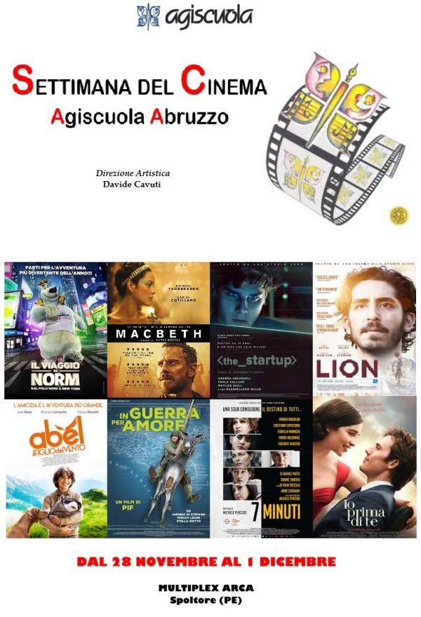 """Spoltore: la """"Settimana del Cinema Agiscuola"""""""