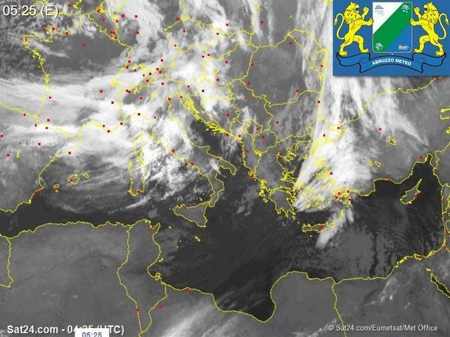 Previsioni meteo Abruzzo giovedì 14 dicembre