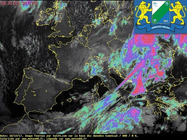 Previsioni meteo Abruzzo sabato 16 dicembre