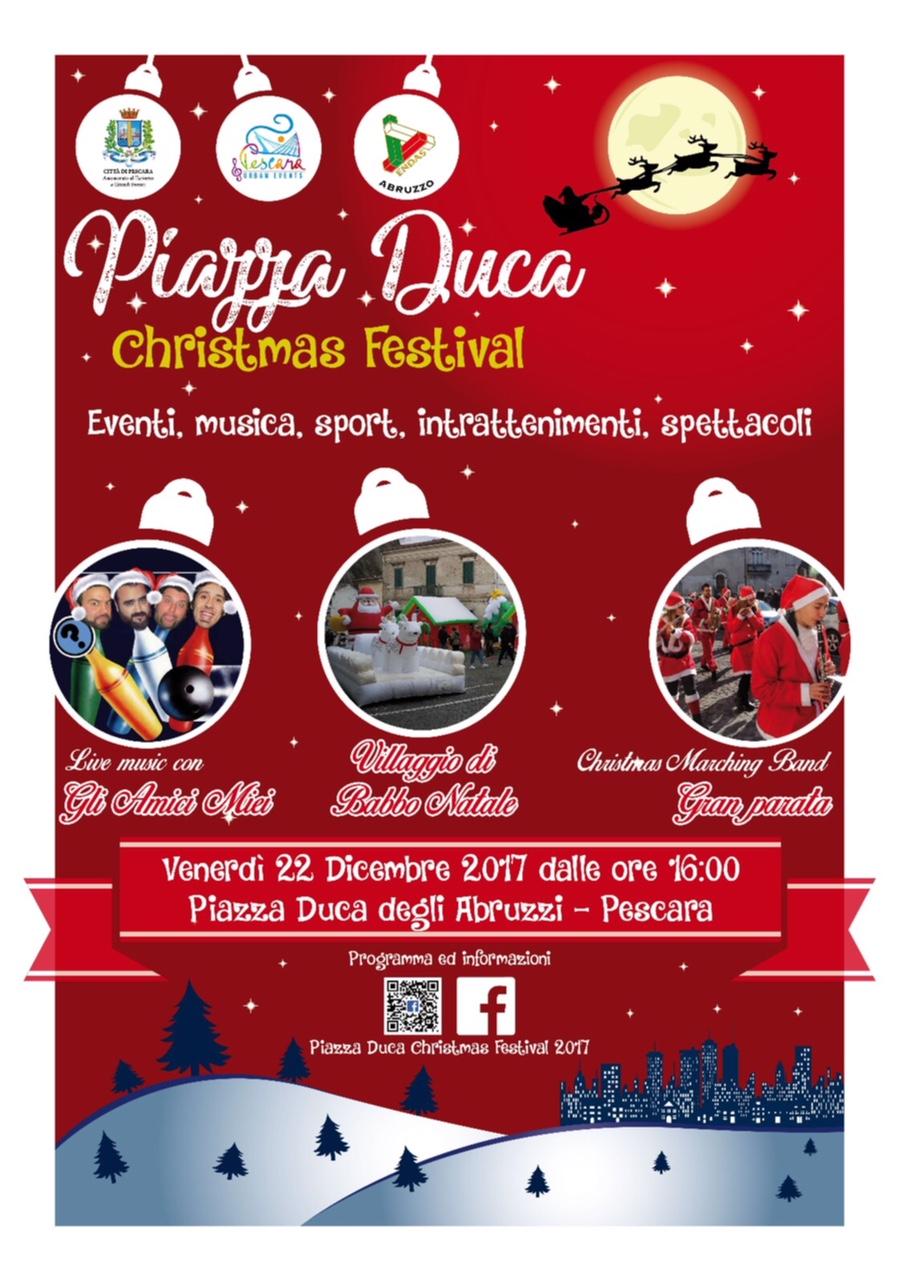Pescara: il Natale di Piazza Duca