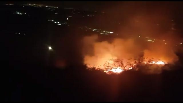 Francavilla, incendio in zona collinare