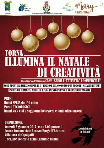 Cepagatti, torna il concorso Illumina il Natale