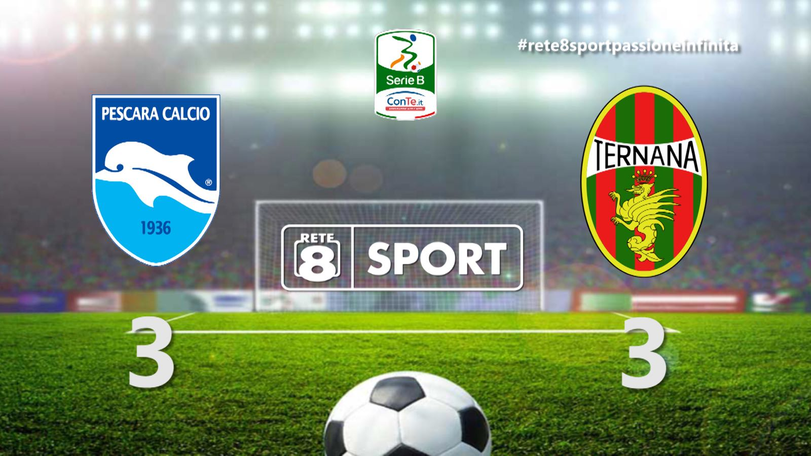 Serie B Pescara Ternana – Incubo remuntada, arriva un pari