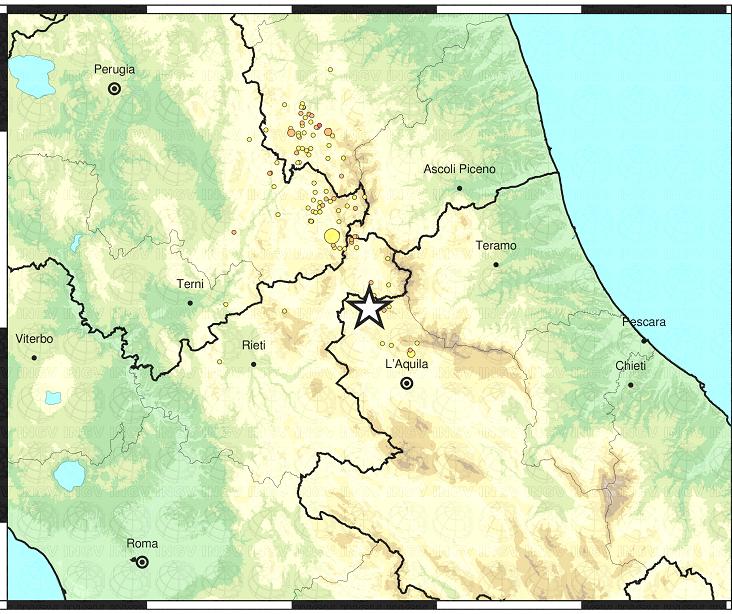 Terremoto Centro Italia, scosse nella notte ad Arquata del Tronto