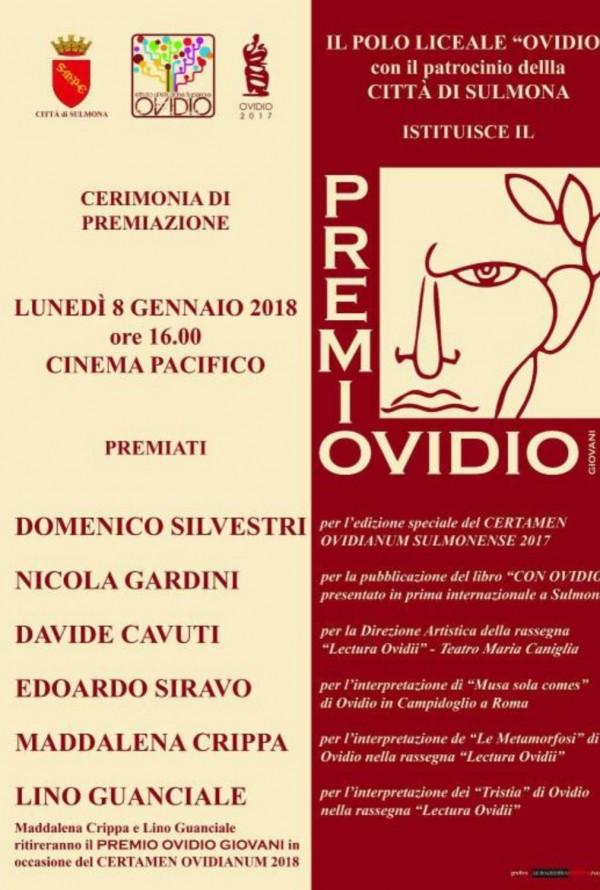 Premio Ovidio Giovani a Sulmona