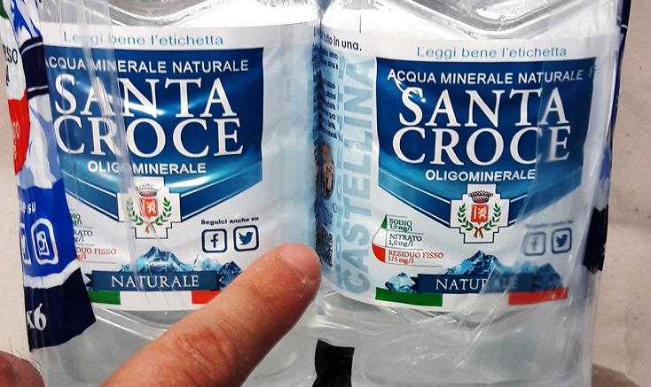 Ritirato lotto di acqua Santa Croce