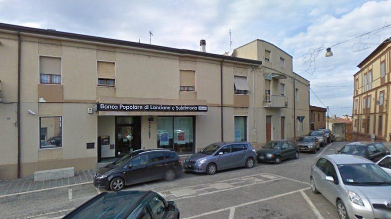 Colpo alla Bper di San Vito Chietino, usato esplosivo