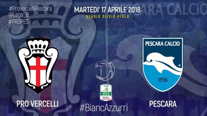 Pro Vercelli - Pescara, webcronaca della partita dalle 20.30