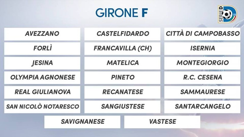Serie D Girone D Calendario.Serie D Girone F Sara Un Avvincente Tour De Force